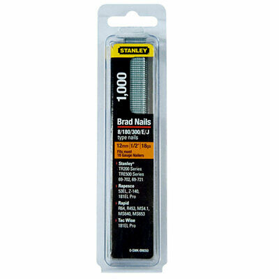 Stanley 0-SWKBN050 Brad Nails 12mm (Pack 1000)