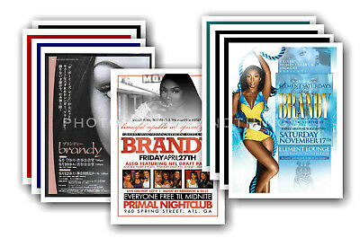 BRANDY - 10 promotional posters  collectable postcard set # 1