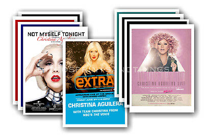 CHRISTINA AGUILERA - 10 promotional posters  collectable postcard set # 1