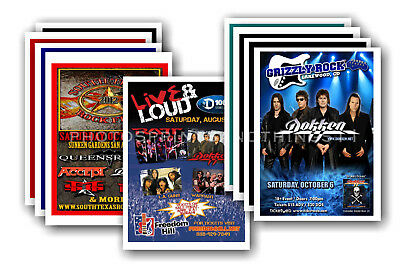 DOKKEN - 10 promotional posters  collectable postcard set # 1