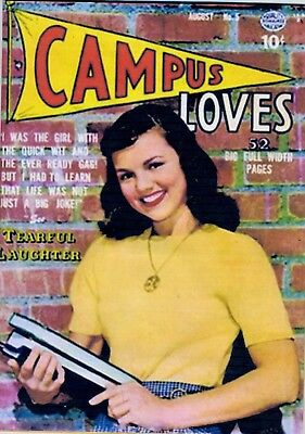 CAMPUS LOVES Aug. 1950 No. 5,  Spanking panel, Quality