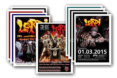 LORDI - 10 promotional posters  collectable postcard set # 1