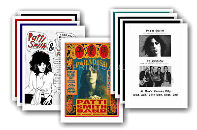PATTI SMITH - 10 promotional posters  collectable postcard set # 1
