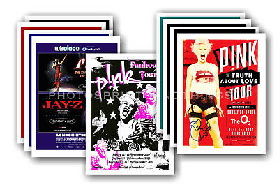 PINK - 10 promotional posters  collectable postcard set # 1