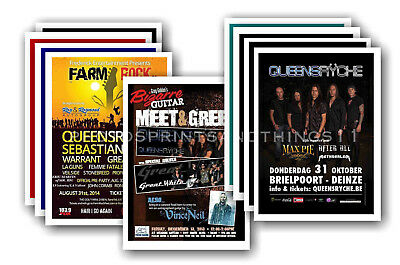 QUEENSRYCHE - 10 promotional posters  collectable postcard set # 1