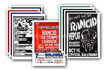 RANCID - 10 promotional posters  collectable postcard set # 1