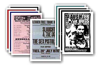 SLAUGHTER & THE DOGS - 10 promotional posters  collectable postcard set # 1