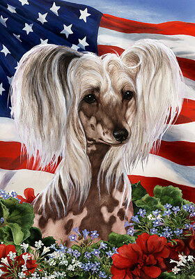 Garden Indoor/Outdoor Patriotic I Flag - Chinese Crested 160691