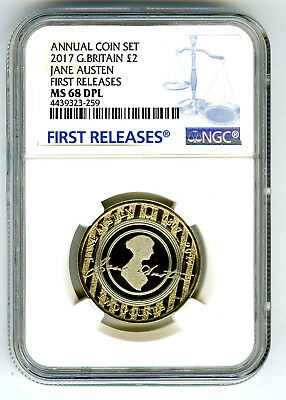 2017 Great Britain 2Pnd Jane Austen Ngc Ms68 Dpl 200Th Anniversary First Release