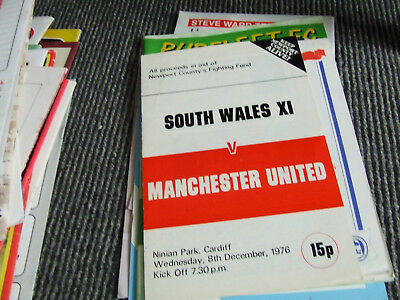 @ Cardiff....south Wales V Manchester United 1976 Friendly In Aid Of Newport C