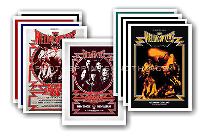 THE HELLACOPTERS - 10 promotional posters  collectable postcard set # 1