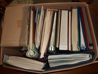 COMMONWEALTH, HUGE STAMP ESTATE COLLECTION, 12x OLD ALBUM + MUCH MORE, LARGE BOX