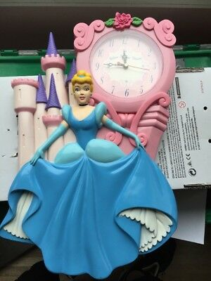 Disney Cinderella Castle Wall Clock Believe In Your Dreams Tested