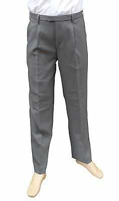 "CATHEDRAL Grey Showerproof Mens Soft Polyester Bowling Trousers 38"" W I/L 29"""