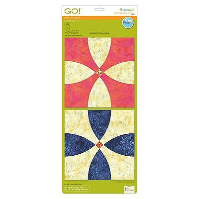"AccuQuilt GO! fabric cutting die Flowering Snowball-12"" 10 x 24 Finished 55252"