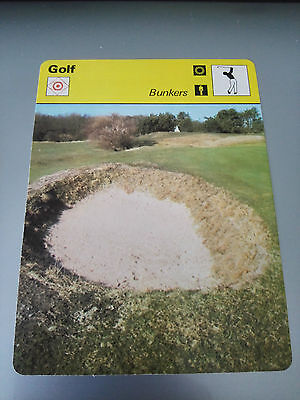 GOLF - 'BUNKERS' - Sportscaster Photo Fact Card