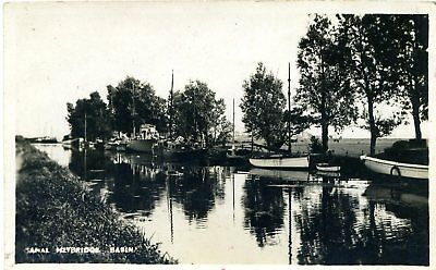 Heybridge Basin Canal - Maldon - Essex - Old Real Photo Postcard View