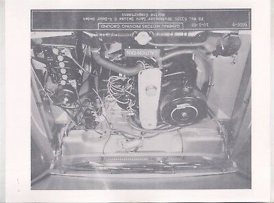 1963 Studebaker Lark Deluxe 6 Engine ORIGINAL Factory Photograph Sheet wy6794