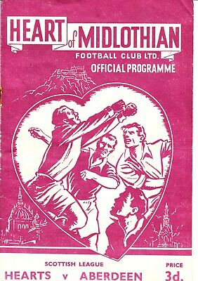 HEARTS v Aberdeen, 7th March 1953, Scottish League Division A