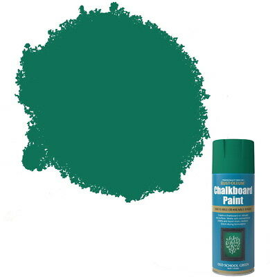 Rust-Oleum Blackboard Chalkboard Aerosol Spray Paint Old School Green Matt
