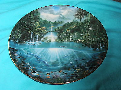'Sanctuary of the Dolphin' plate limited edition Hamilton Enchanted Seascapes