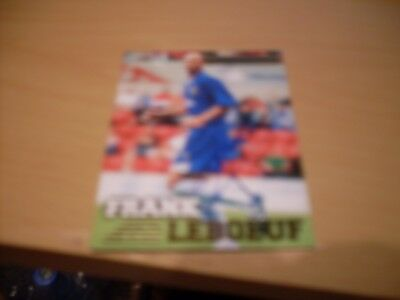 signed premier gold football card by chelsea frank leboeuf