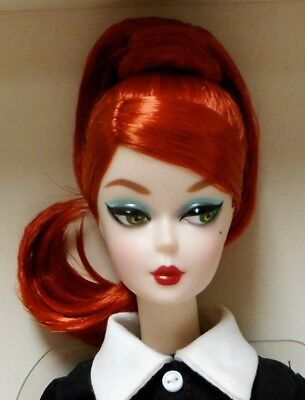 CLASSIC BLACK DRESS BARBIE SILKSTONE FASHION MODEL w/RED HAIR~2016 Paris Exc.