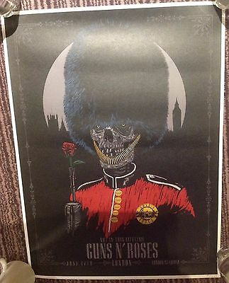 Guns N Roses London Olympic Stadium Royal British Guard Poster 6/17 Sat  200