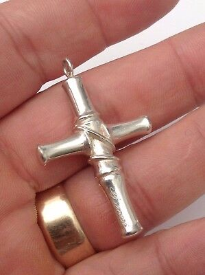 Silver Solid Cross Excellent Heavy
