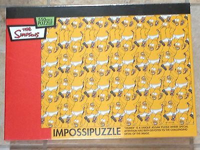 The Simpsons Impossipuzzle 550 Piece Homer Jigsaw Puzzle New MISP