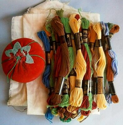31 Lengths of Vintage Embroidery Threads by JP COATS and DMC of France