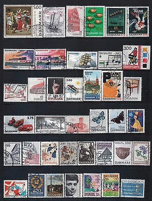 DENMARK - Mixed lot of 39 Stamps, most Good - Fine Used, LH