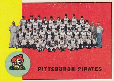 Topps 1963 #151 Pittsburgh Pirates Team Card