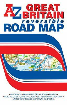 Great Britain Reversible Road Map (A-Z Road Map) New Map, Book Geographers' A-Z