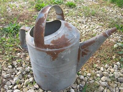 Garden Flower Can Vintage Used Galvanized Metal Beat Up Water Can Sprinkler Can