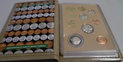 Australian 1991 Proof Set In Wallet Form 25 Years Decimal Currency