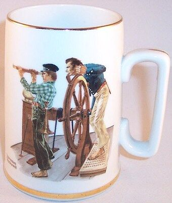 """NEW The Norman Rockwell Museum """"River Pilot"""" Collectible Mug Tankard 1985"""