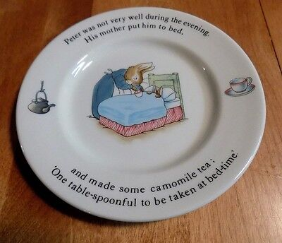 PETER RABBIT WEDGWOOD Child's Plate Made In England Warne Classic Beatrix Potter