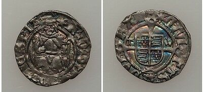England Great Britain 1526-44 Henry VIII Silver Penny,Nice,Beautiful Toning
