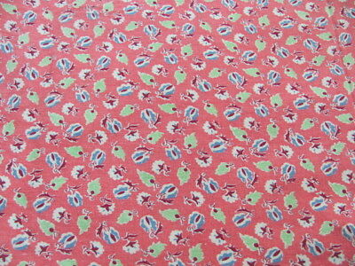 3 matching feedsacks bubble gum pink background small design lime green blue