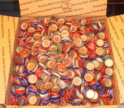 12 lbs 2500+/- used beer bottle caps for crafts box #2 free us shipping