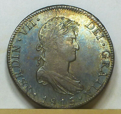 Mexico 8 Reales 1815 Mo-JJ Choice Almost Uncircuated