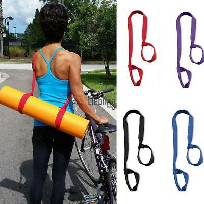 HOT Polyester Yoga Mat Exercise Pad Looped Sling Harness Carrier Strap LEBB