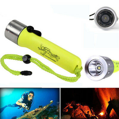 Waterproof 6000LM T6 LED Scuba Diving Flashlight Torch Underwater 50M