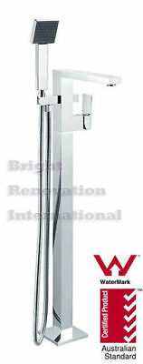 New Bathroom Square Cooby Wide Freestanding Bath Spout/Mixer & Hand Held Shower