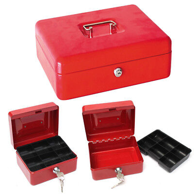 new stainless steel petty cash box lock bank deposit safe key