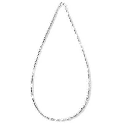 "HSN Technibond Sterling Silver Diamond Cut Pyramid Box 22"" Chain Necklace"