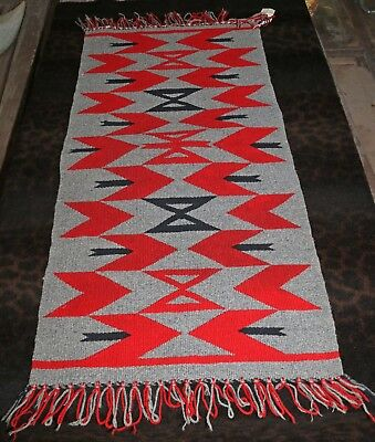 "Authentic Antique Navajo Germantown Runner, Sampler Blanket 18""w x 36""L (Rug)"