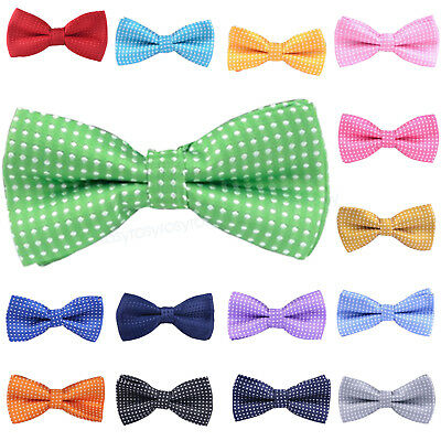 Kids Boys Toddler Infant Bowtie Pre Tied Wedding Party Bow Tie Necktie Polka dot