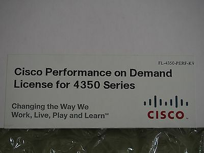 New Cisco FL-4350-PERF-K9 Activation Key 200 Mbps to 400 Mbps for ISR4351